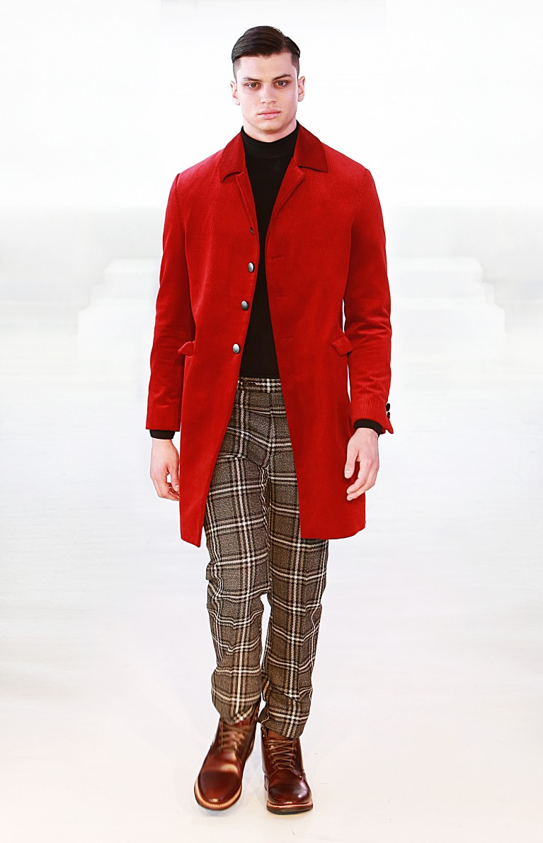 maroon coat FW