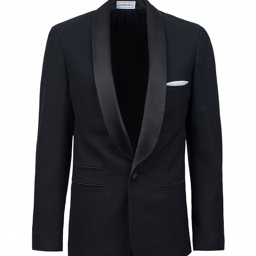 FW213331 Tuxedo in patterned Merino/Cashmere Wool