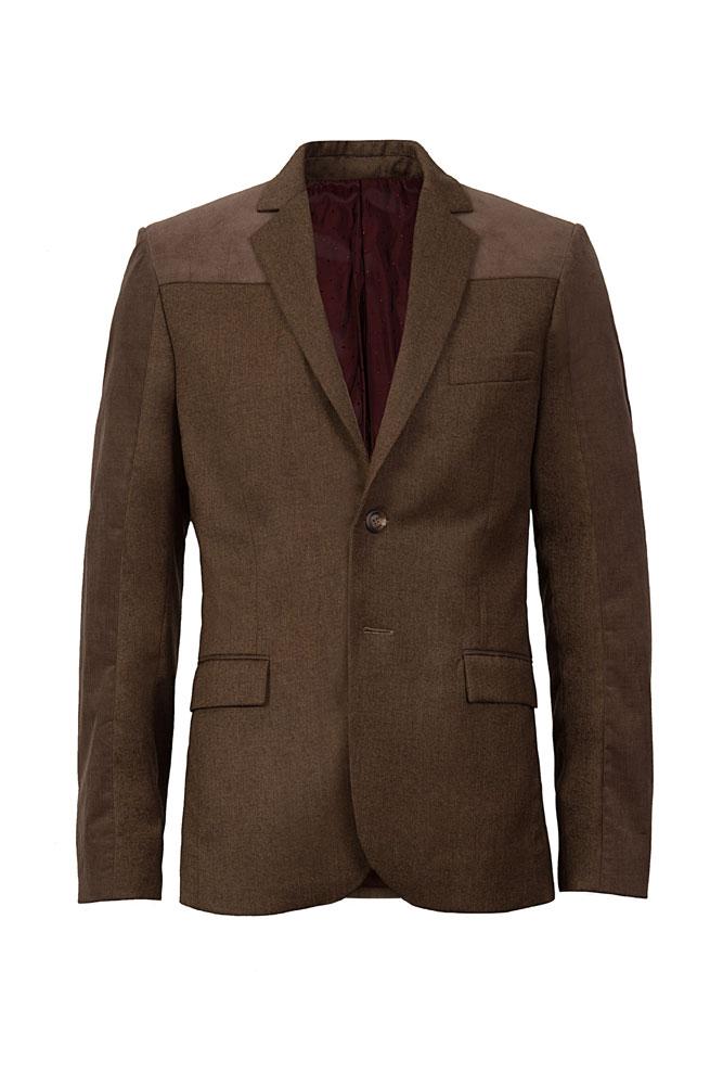 mud brown suit