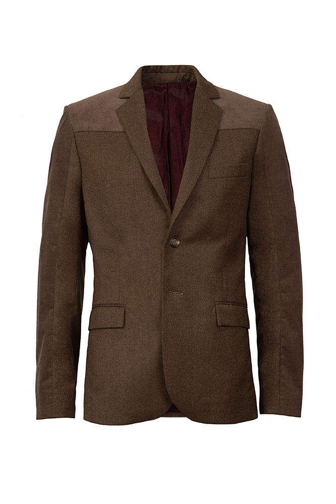 mud brown suit