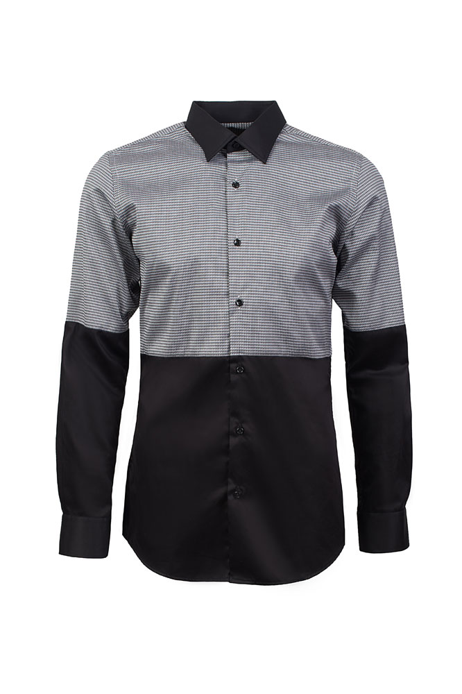 silver black Shirt